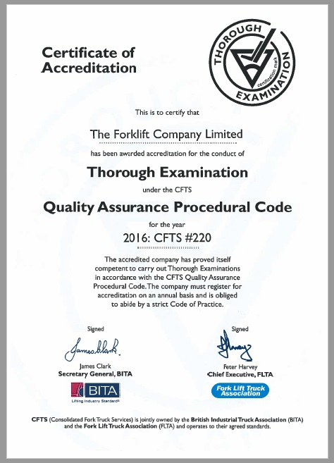 Quality Assurance The Forklift Company
